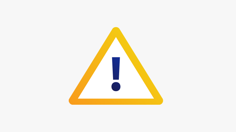 Illustration of an alerts icon represented by an exclamation point enclosed in a triangle.